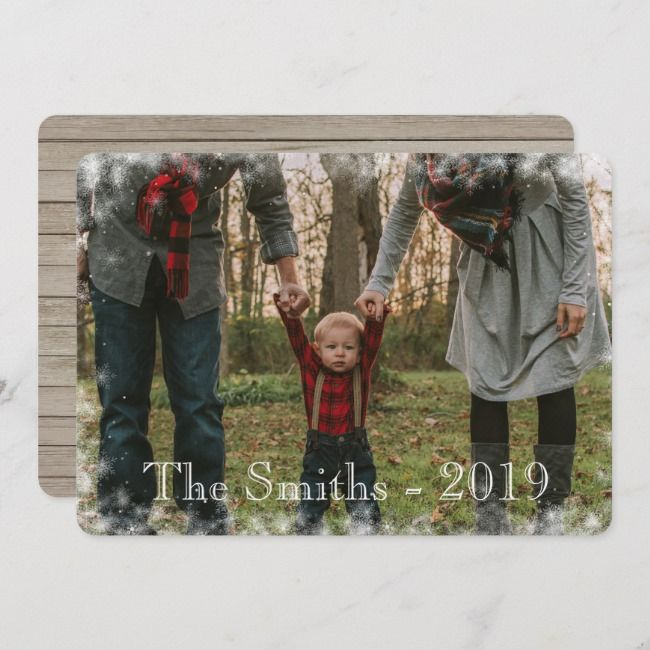 Winter Let it Snow Snowflake Holiday Photo Card