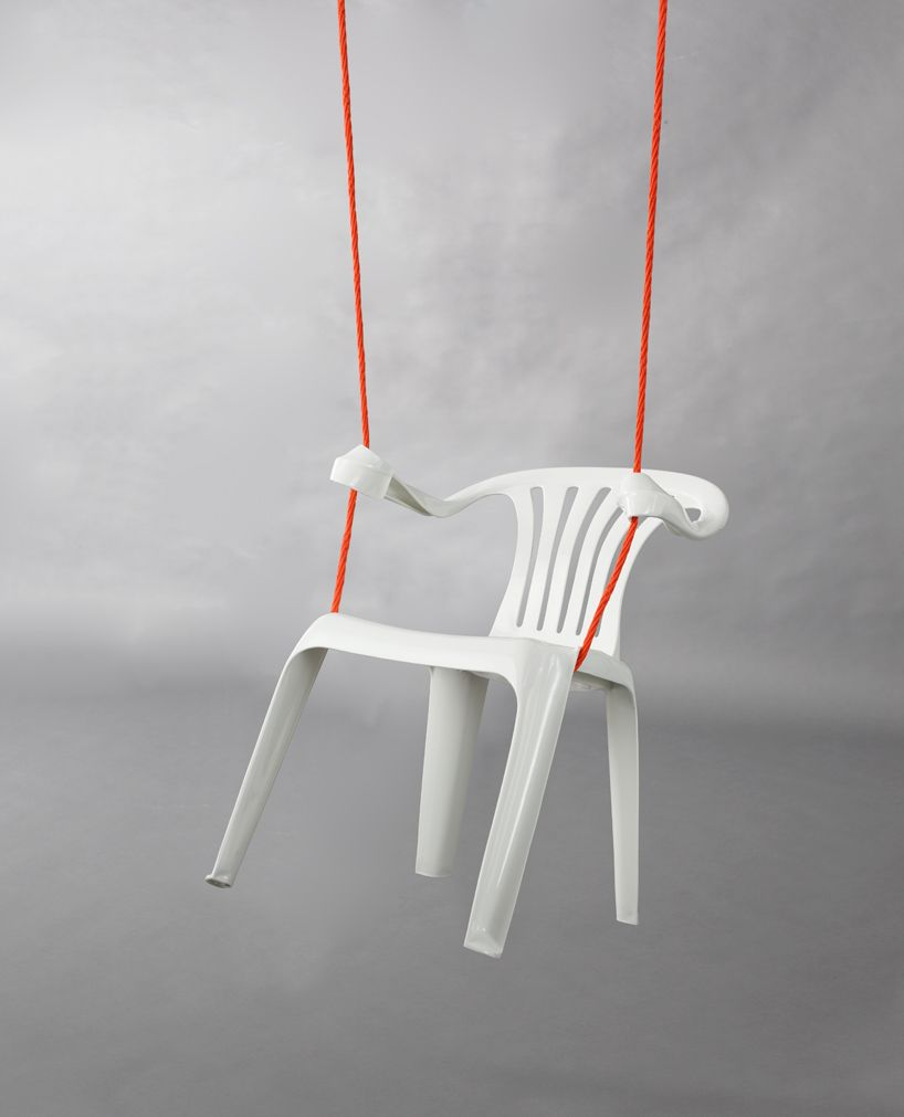 Generic plastic chair turned awesome swing by bert loeschner d