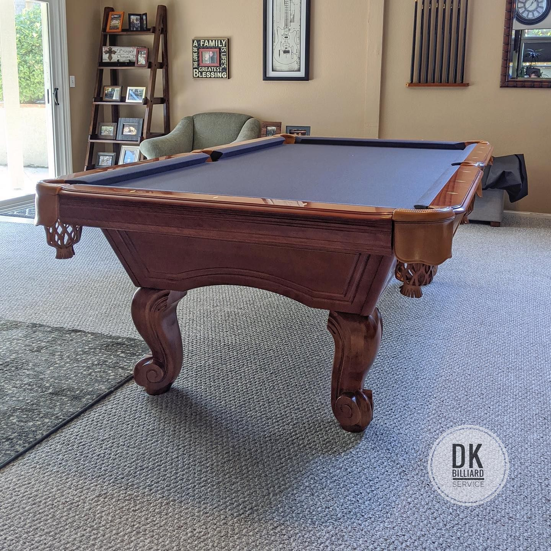 8 foot abc newport pool table refelt in yorba linda