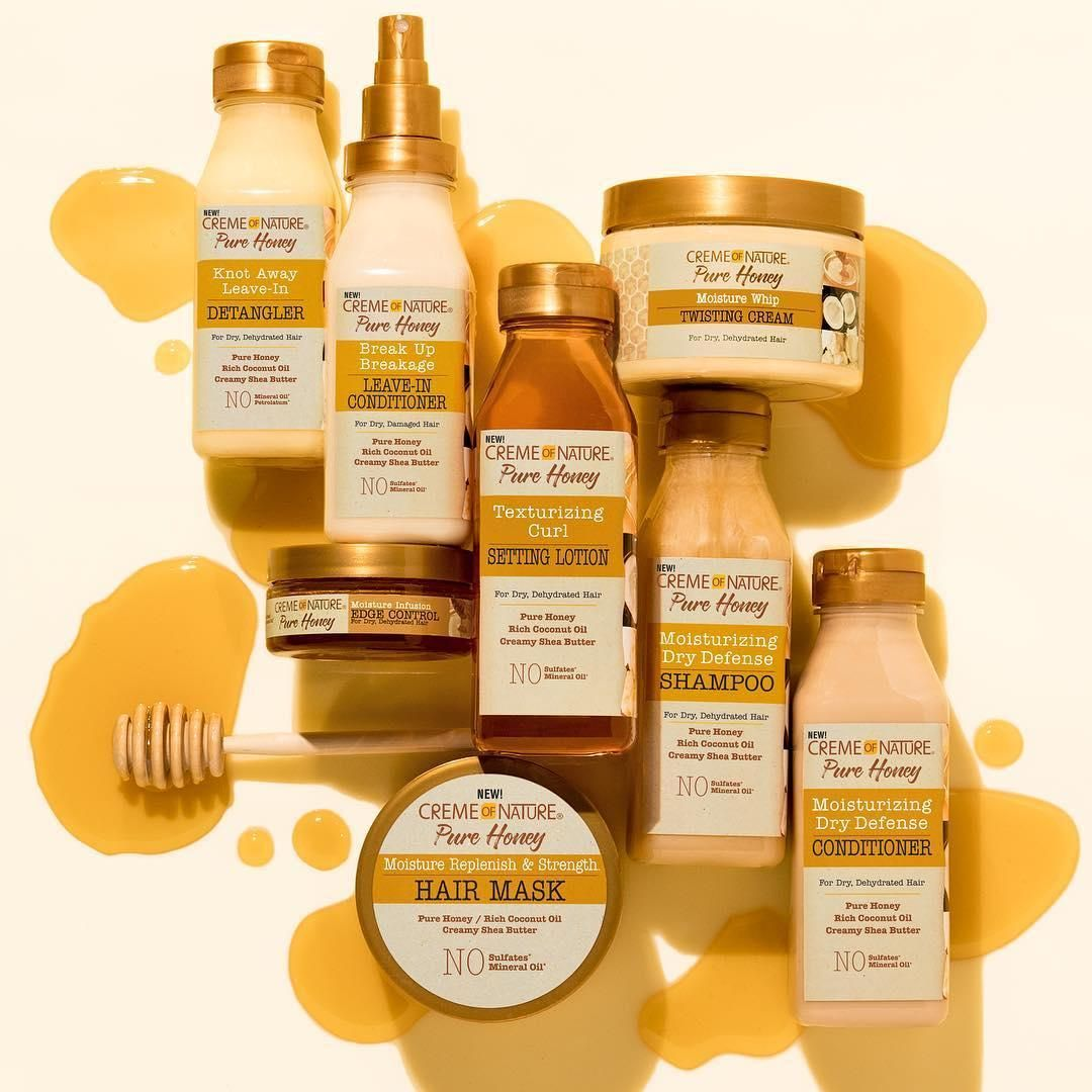New Favorite Alert Creme Of Nature Pure Honey Is Packed With Honey Organic Coconut Oil And Shea Natural Hair Styles Natural Hair Care Tips Natural Hair Care