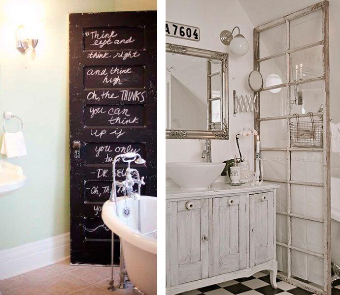 Reciclar puertas de madera 22 muebles con puertas for Pintar puertas de madera viejas