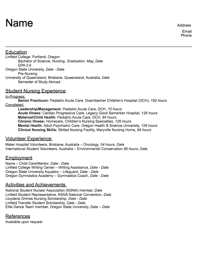hospital resume examples