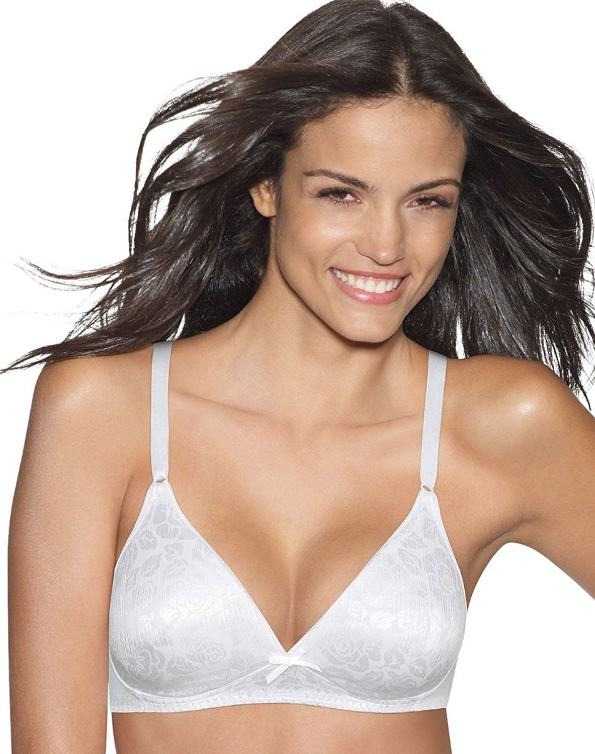 5d2dd71d67 Hanes Lightly Lined Seamless Wirefree Bra Light Beige 34A at Amazon Women s  Clothing store