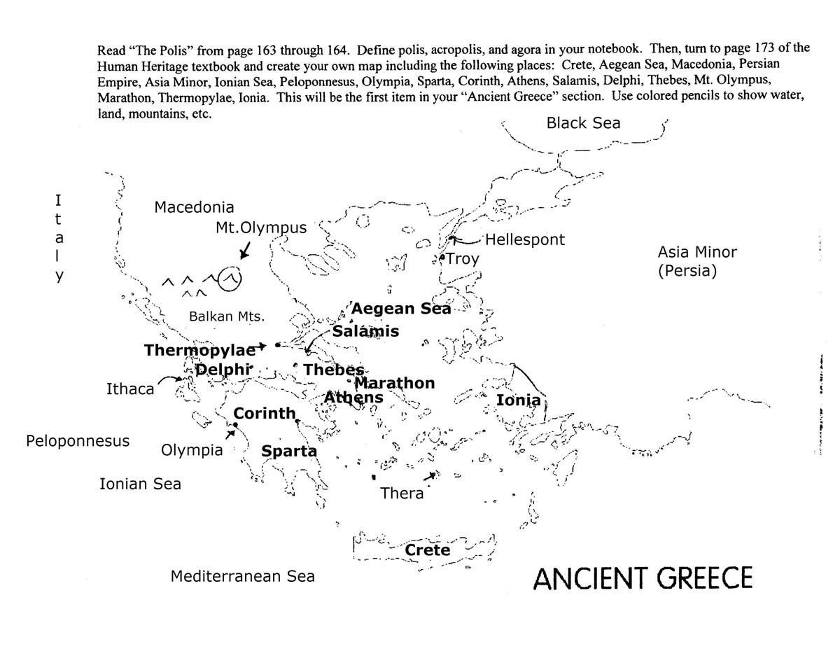 Ancient Greece Map Labeled 1 200 927 Pixels