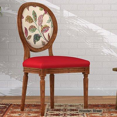 Buy Zen Dining Chair (Dusky Rose, Rosy Leaf) Online in