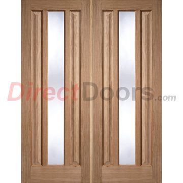 Kilburn 1 Light Oak Door Pair With Clear Safety Glass Oak Doors Light Oak And Safety Glass
