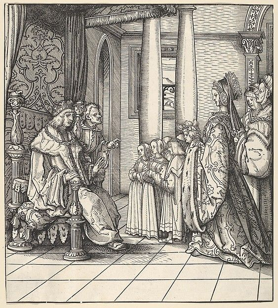 Hans Burgkmair | The White King Receiving His Daughter Margaret and the Children of King Philip, from Der Weisskunig | The Met