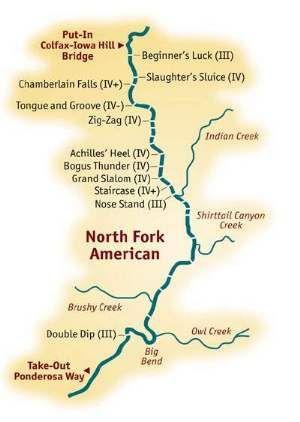 White Water Rafting California Map.Whitewater Rafting River Map River Maps In 2019 American River