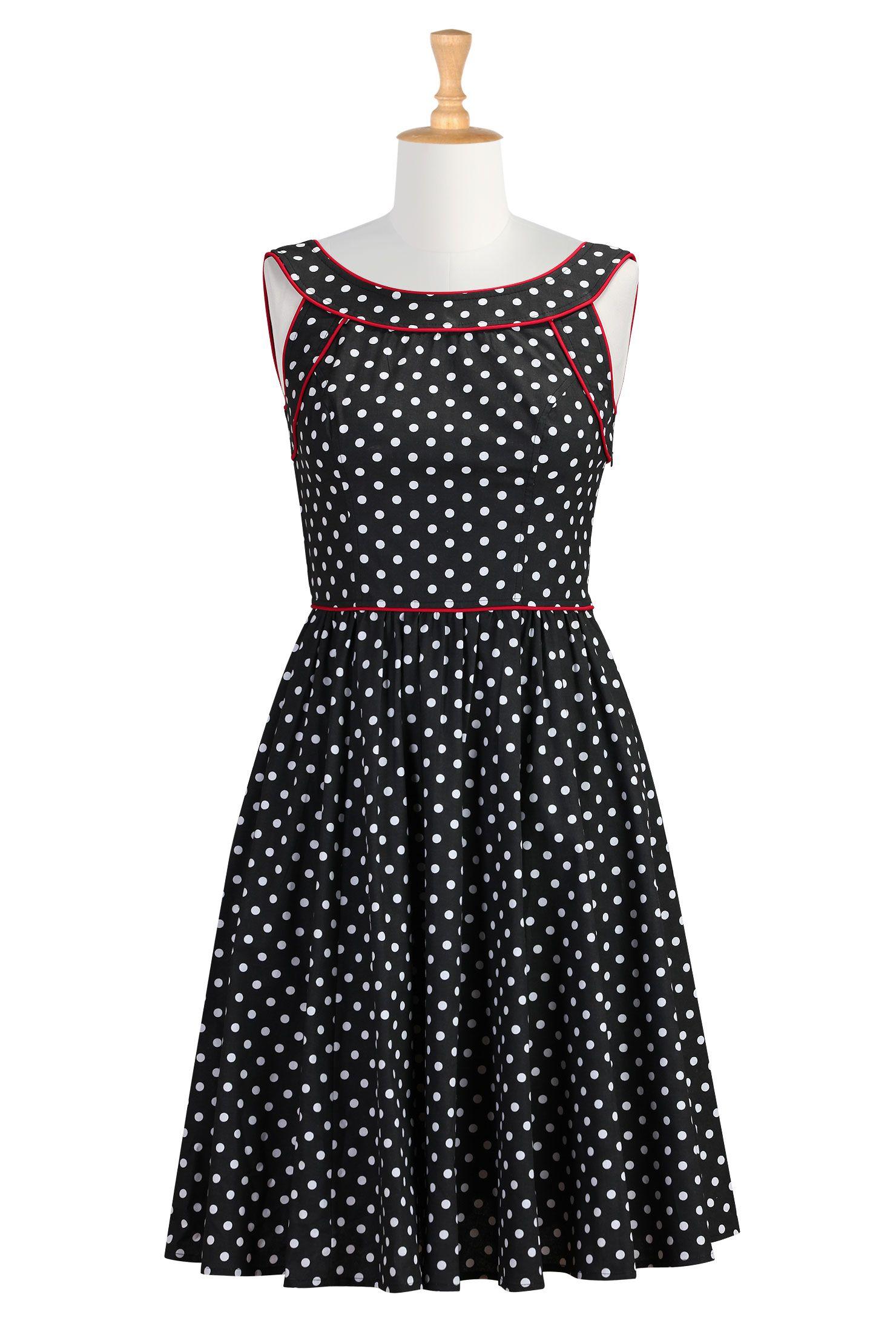 9e2ed8a52bc Vintage Polka Dot Dresses - 50s Spotty and Ditsy Prints