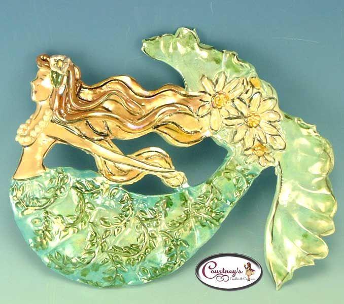 The Garden Mermaid Wall Plaque - Clayworks Studio Originals by ...