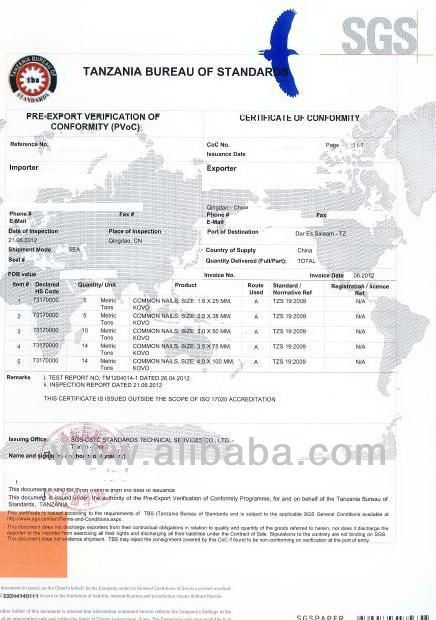 Sgs Tanzania Pvoc PreExport Verification Of Conformity  Buy Sgs