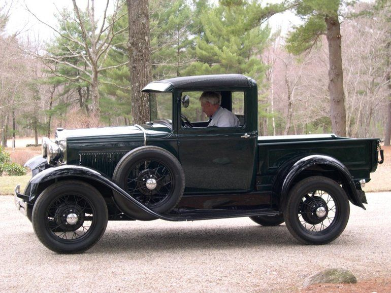 1930 Ford Model A Closed Cab Pick Up Vintage Pickup Trucks Old