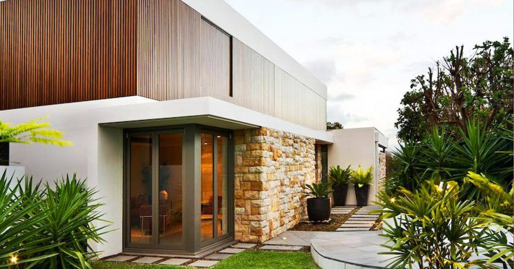 maison-bois-moderne-enduit-pierre-dessiner-sa-maison Architecture - Concevoir Sa Maison En 3d