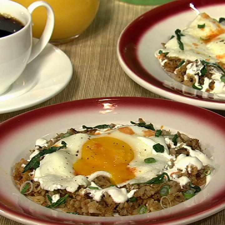 Hash Browns with Perfect Sunny Side Up Eggs Recipe by Sunny Anderson