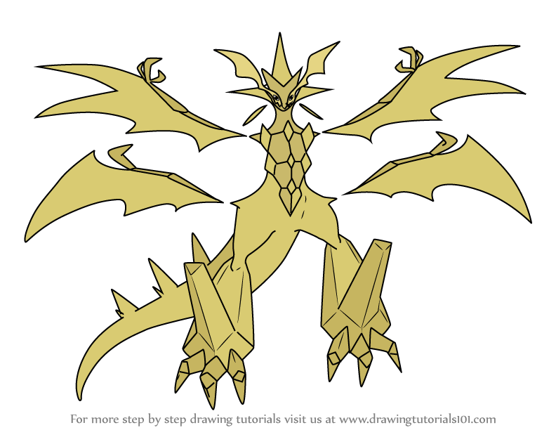 Learn How To Draw Ultra Necrozma From Pokemon Pokemon Step By Step Drawing Tutorials Drawings Pokemon Drawing Tutorial