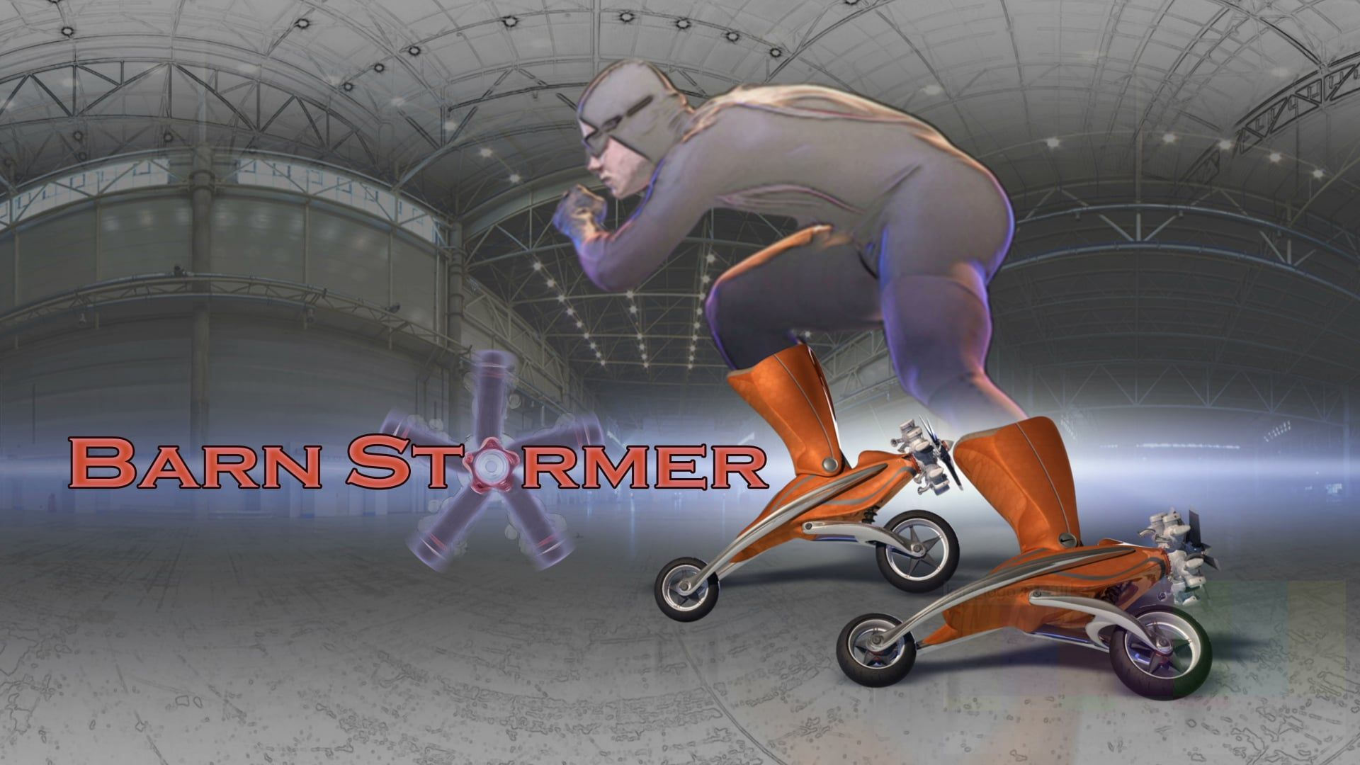 BarnStormer | what happens when you combine speed skates with a biplane? Visualization of powered inline skates concept design.