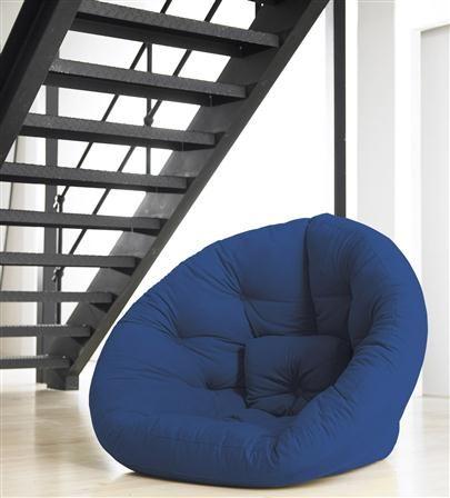 Futón-sillón Nido azul oscuro