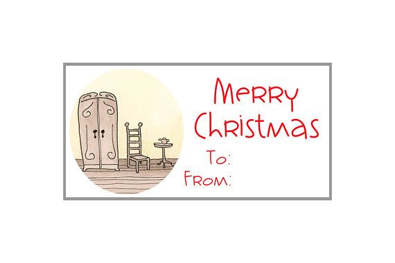 Download Printable Gift Tags Labels 2x4 Page Of 10 Merry Christmas
