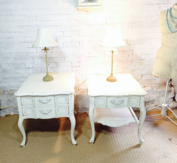 side tables / night stands shabby chic by TwinsChic on Etsy