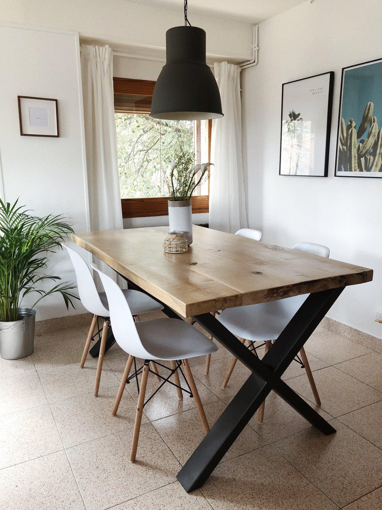 Mesa comedor Akanni (Roble - tablones) | Kitchen/dining ...