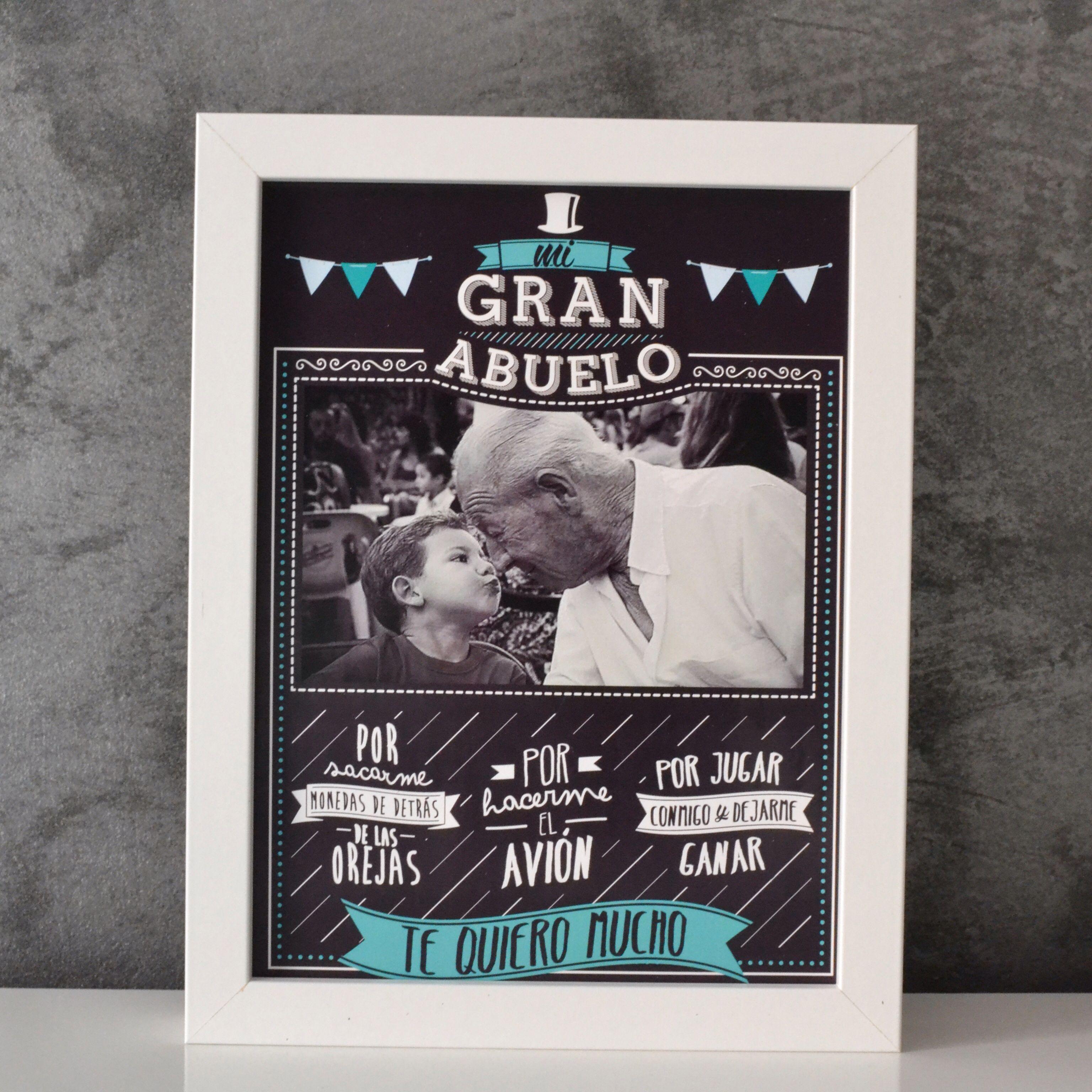 Original cuadro para decirle a tu abuelo lo grande que es Papa GeschenkeIdeen Para FiestasSelbstgemachte GeschenkeOpa GeburtstagKreative