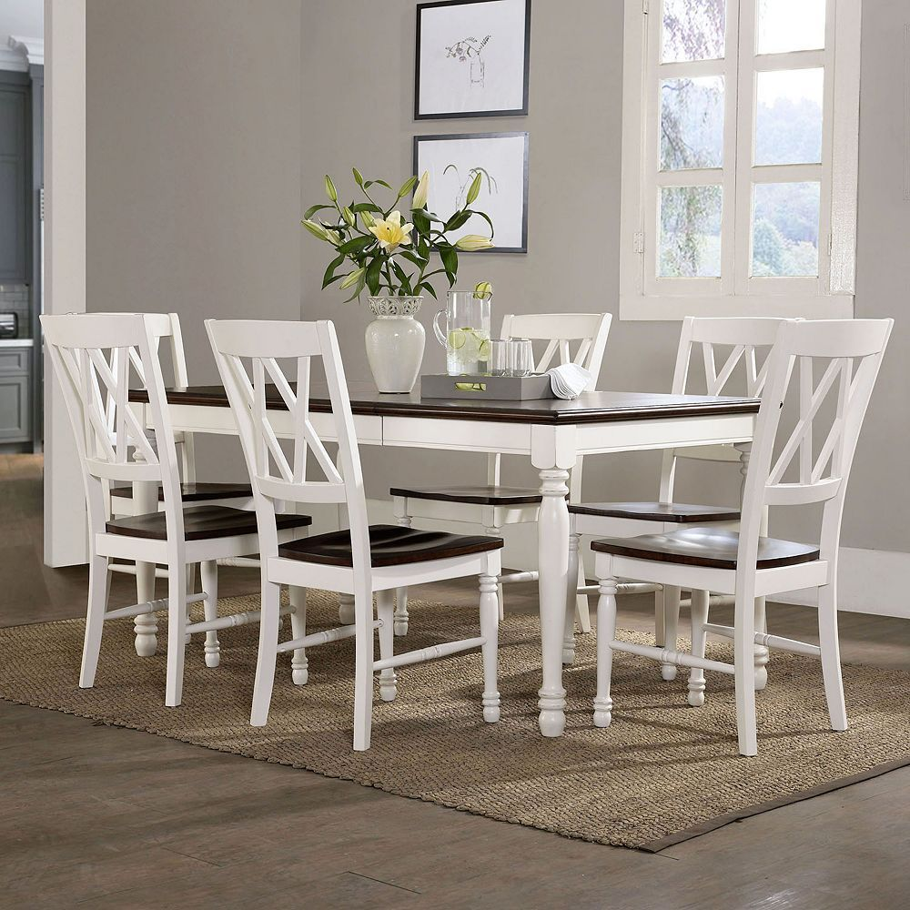 Crosley Furniture Shelby Dining Table Chair Leaf 7 Piece Set