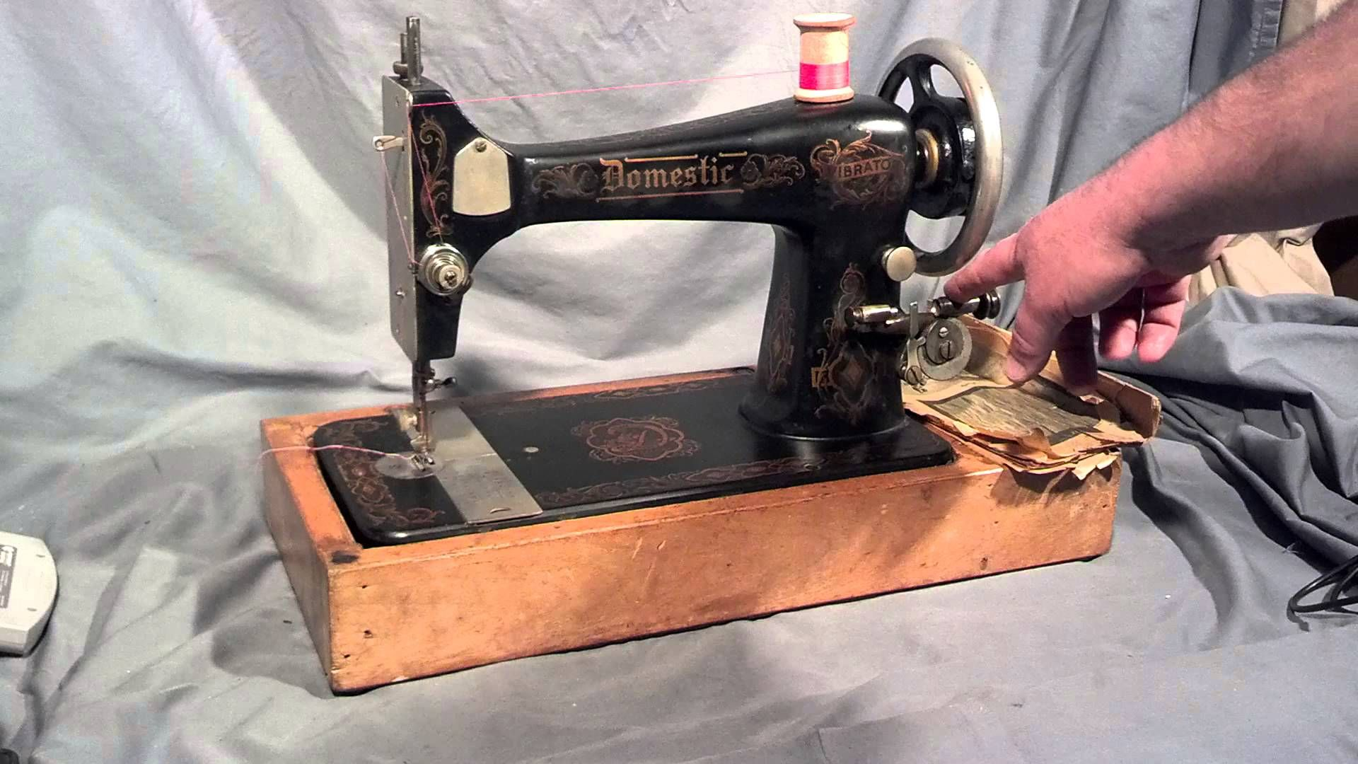 This Video Demonstrates An Antique Domestic Vibrator Treadle Sewing