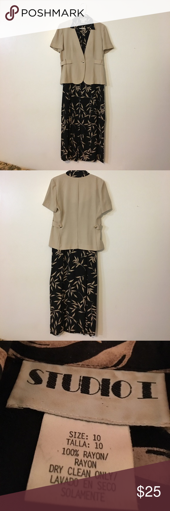 Two Piece Printed Dress With Jacket Print Dress Jacket Dress Dresses [ 1740 x 580 Pixel ]