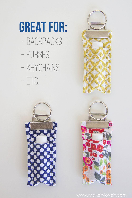 Diy Fabric Chapstick Holder Chapstick Holder Small Sewing