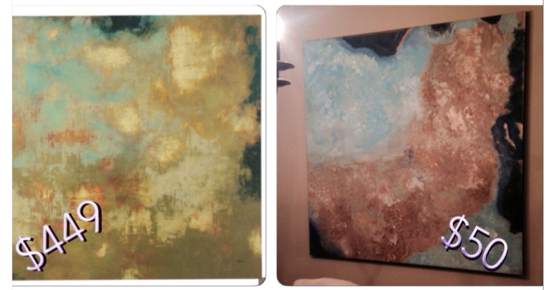 Diy art project to save $400!