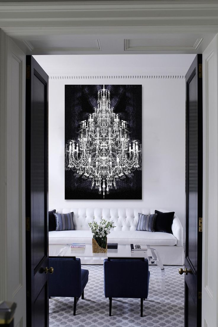 Black and white home home decore pinterest canvases crystals black and white home chandelierschandelier mozeypictures Image collections