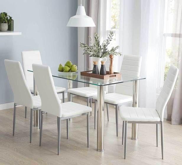 Zoe 5 Piece Dining Set With Zara Chairs
