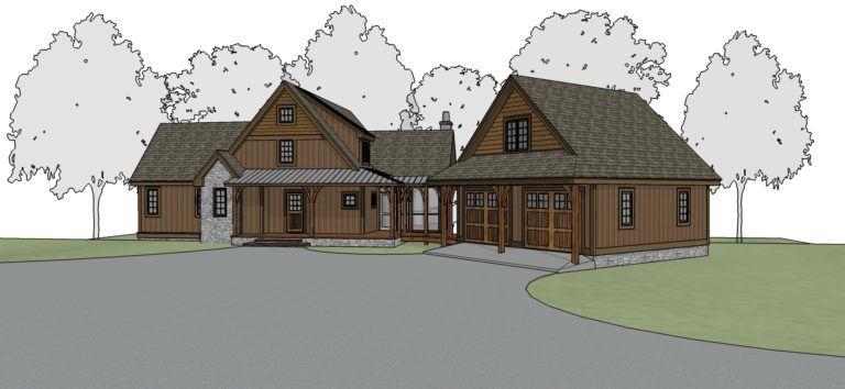 Cottonwood Creek Timber Frame Floor Plan By Mill Creek