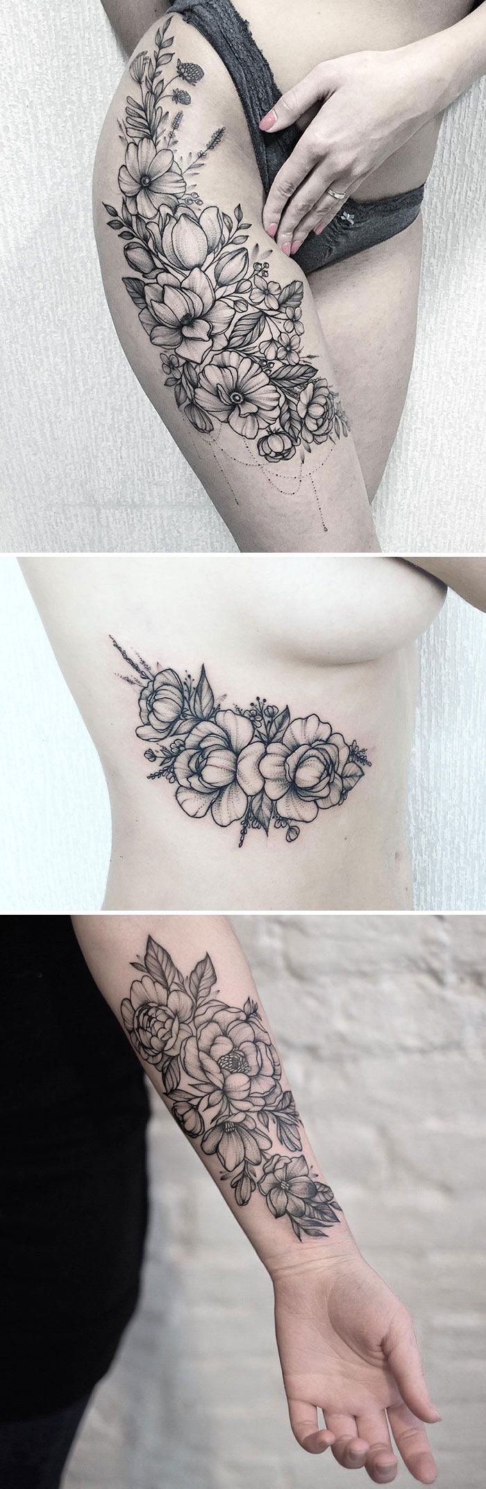 Beautifulfloraltattoosg pixels tattoo