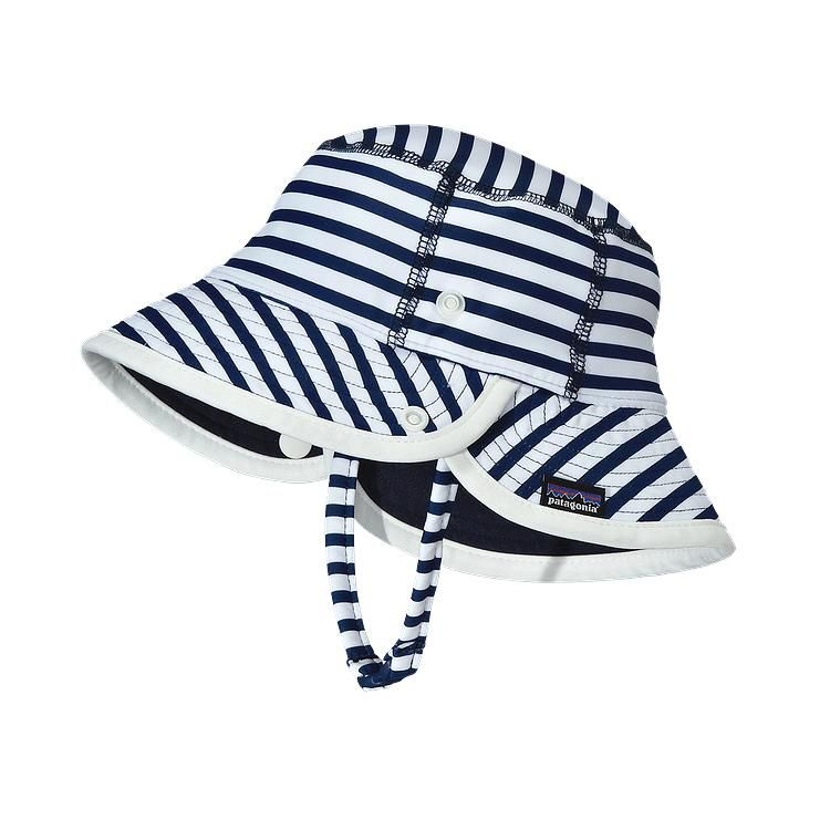 Patagonia Baby Little Sol Hat Nautical Stripe Channel
