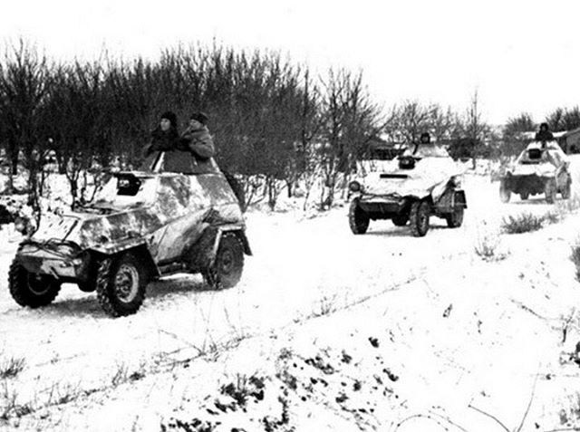2 December 1942 Battle of Stalingrad: Soviet BA-64 armored cars scouting the Chir River, beyond which the remnants of 3rd Romanian Army have escaped. [sorry for not posting much the last couple of days.