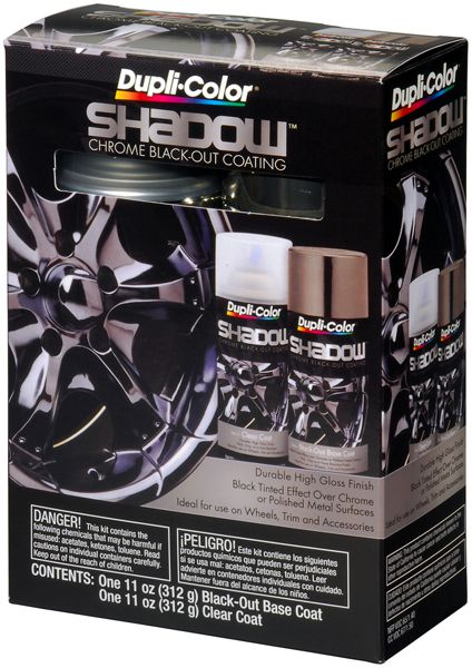 Black Chrome Car Paint : black, chrome, paint, Duplicolor, Shadow, Chrome, Black-Out, Paint, Chrome,, Spray, Paint,