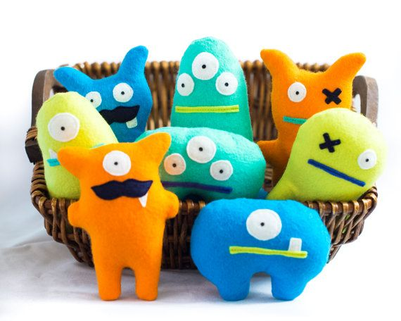 These adorable monsters make the perfect monster party favors for your little ones monster-themed birthday party. The monsters stand about