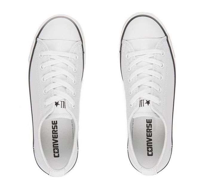 5b1e1dc95ed3 Shop Converse Womens Chuck Taylor All Star Ox Dainty Leather Online ...