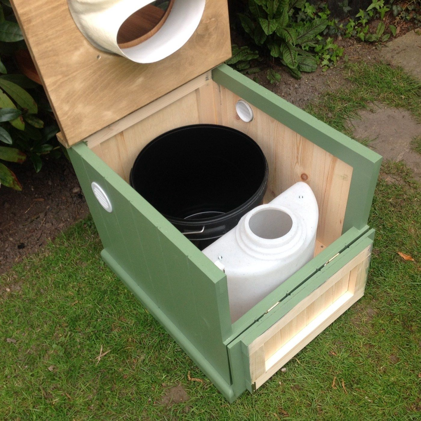 A Self Contained Urine Separating Compost Toilet With