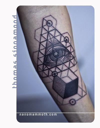 Geometric Eye Tattoo : geometric, tattoo, Geometric, Tattoo, Lines, Points, Blackwork, Tattoo,, Tattoos,
