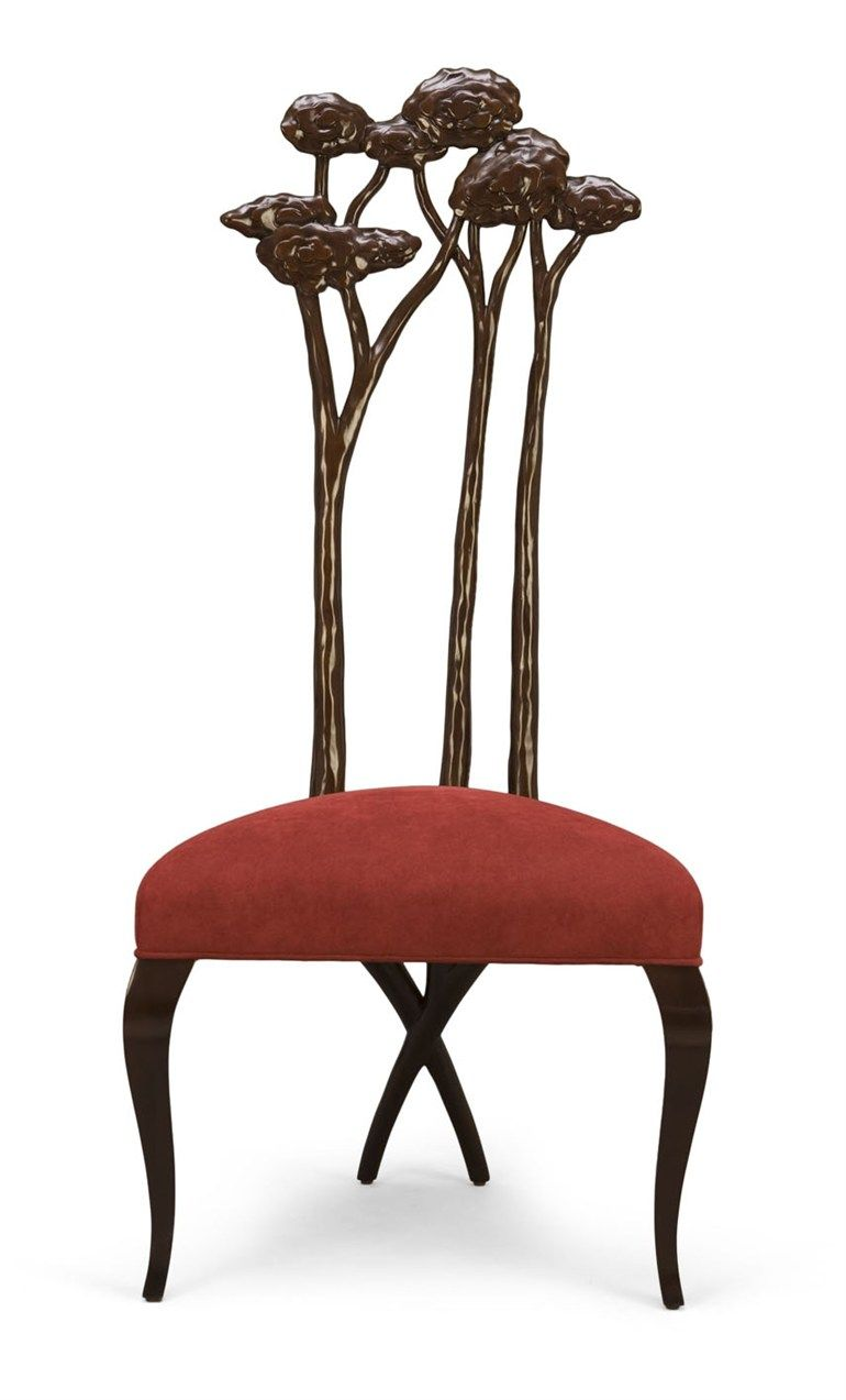 Deco High Back Upholstered Lacquered Wooden Chair 30 0087