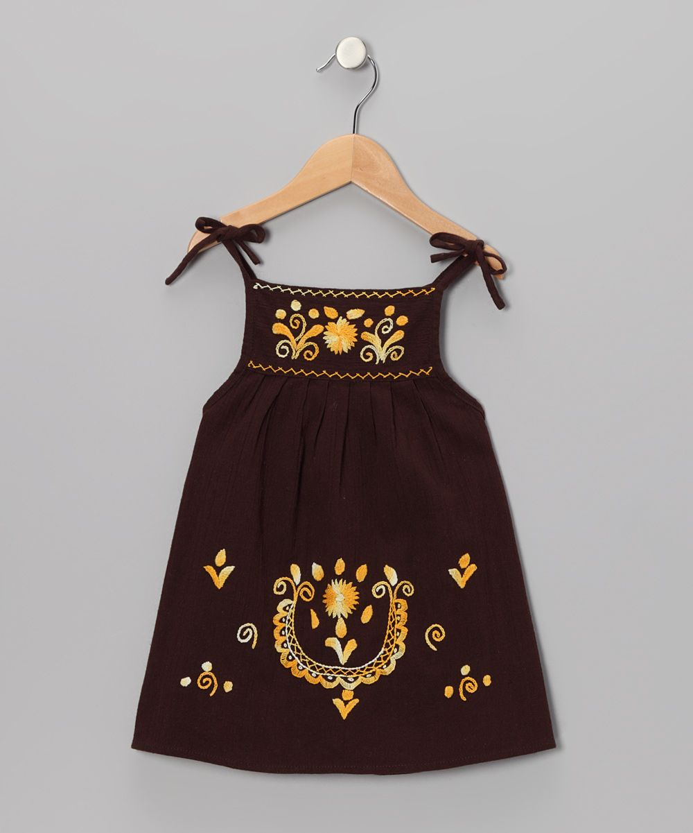 Black and yellow dress kids  I die Handmade in Ecuador Brown u Gold Lolita Dress  Infant
