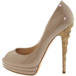 Casadei Patent Glitter Heel Pumps