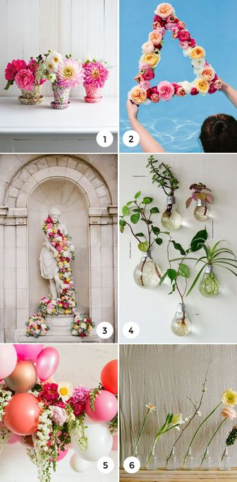 Outside the Vase: 9 ways to Decorate with Flowers
