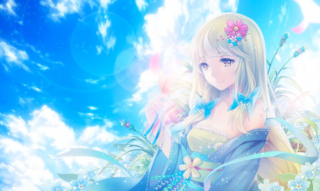 Anime Wallpaper 1200 X 720 Wallpaper Summer By Kyuhai Flower