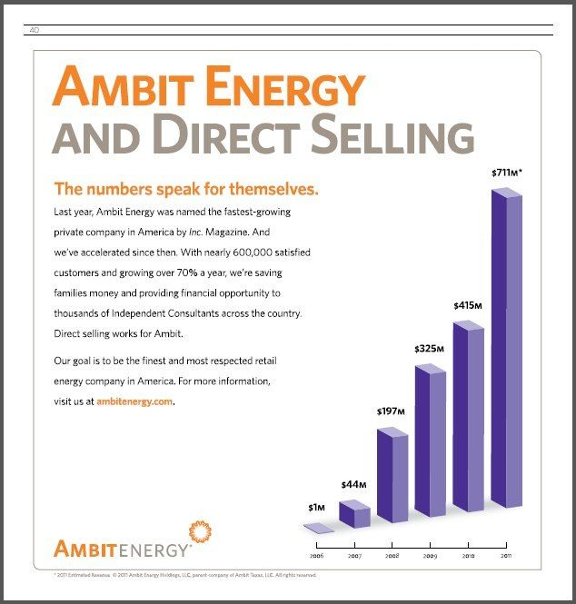 Ambit Energy $1,000,000,000 and beyond. Get a piece for yourself or ...