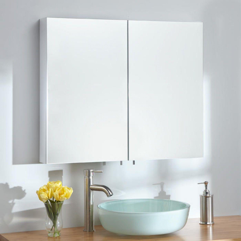 Croydex Severn Circular Mirror Medicine Cabinet Surface Mount Only