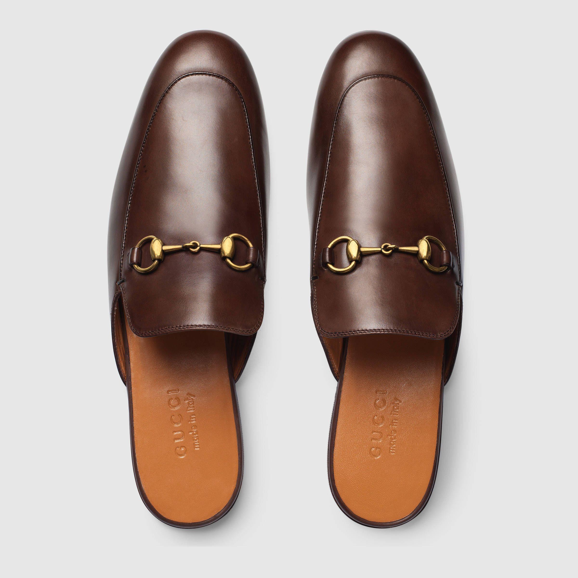 da2fc6fdf8c Gucci Leather Horsebit slipper Detail 3