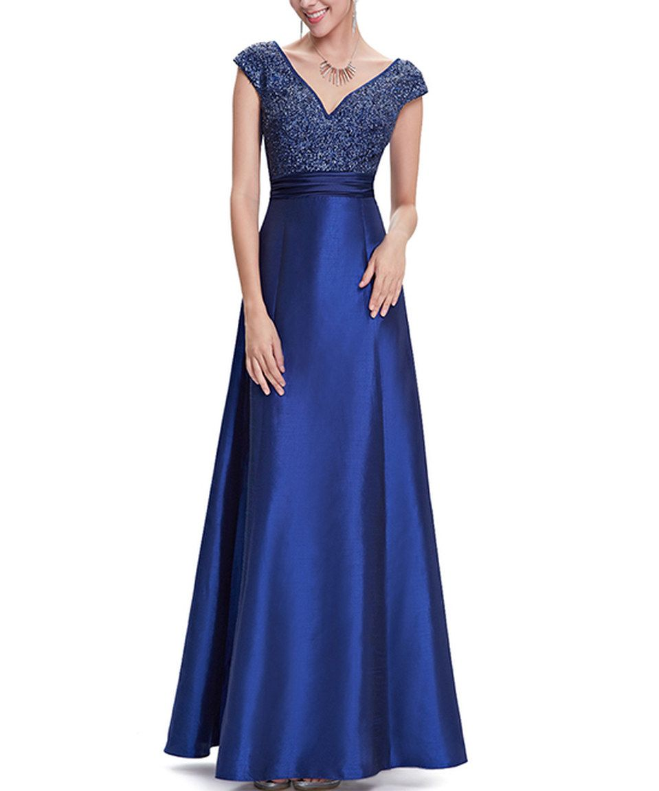 Look What I Found On Zulily Ever Pretty Sapphire Blue Embellished Bodice Cap Sleeve Gown B Blue Wedding Guest Dresses Ankle Length Prom Dress Evening Dresses [ jpg ]